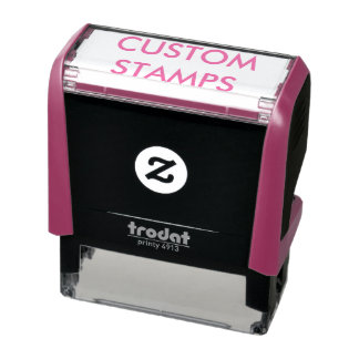 "Custom Personalized 2.15 x 0.78"" Self-inking Stamp"