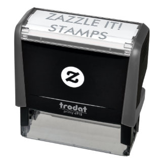 "Custom Personalized 2.65"" x 0.9"" Self-inking Stamp"