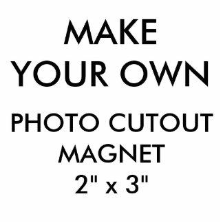 "Custom Personalized 2"" x 3"" Photo Cutout Magnet"