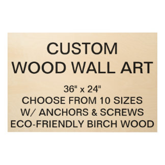 "Custom Personalized 36""x24"" Wood Wall Art Blank"