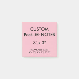 """Custom Personalized 3"""" Square Post-it® Notes Blank"""