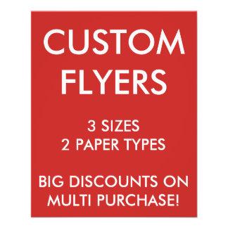"Custom Personalized 4.5x5.6"" Flyers Blank Template"