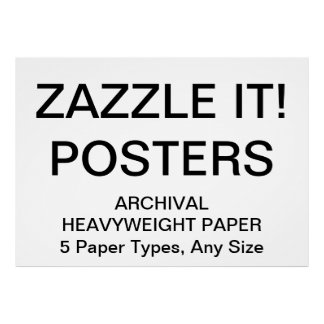 "Custom Personalized 56""x40"" Archival Paper Poster"