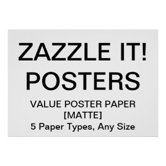 "Custom Personalized 56""x40"" Value Matte Poster"