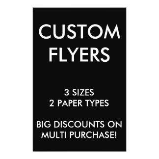 "Custom Personalized 5.5x8.5"" Flyers Blank Template"