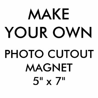 "Custom Personalized 5"" x 7"" Photo Cutout Magnet"