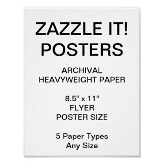 "Custom Personalized 8.5""x11"" Archival Paper Poster"