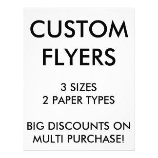 "Custom Personalized 8.5""x11"" Flyers Blank Template"