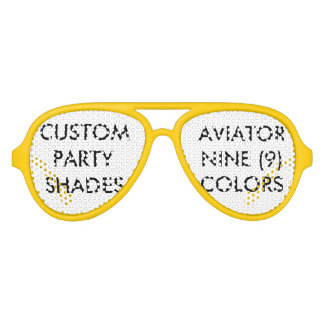 Custom Personalized Aviator Party Shades Blank