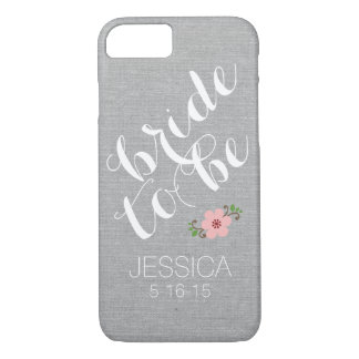 Custom personalized bride to be name wedding date iPhone 8/7 case