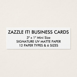 Mini business cards business card printing zazzle custom personalized business cards blank template reheart Gallery