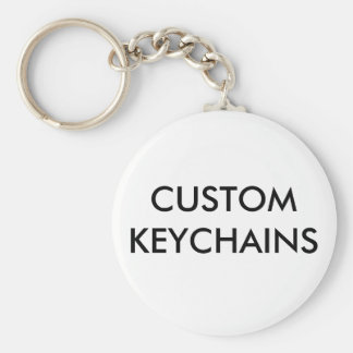 Custom Personalized Button Keychain Blank Template
