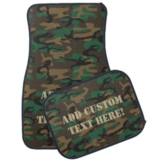 Custom Personalized Camo Hunting/Fishing/Military Car Mat