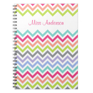 Custom Personalized Chevron Stripe Notebook