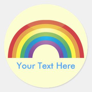 Custom Personalized Classic  Rainbow Stickers