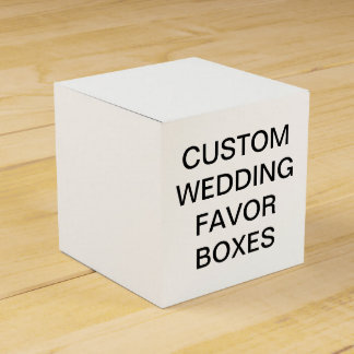 Custom Personalized Classic Wedding Favor Boxes