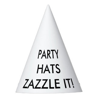 Custom Personalized Cone Party Hat Blank Template