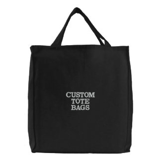 Custom Personalized Embroidered Tote Bag Template