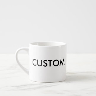 Custom Personalized Espresso Cup Blank Template