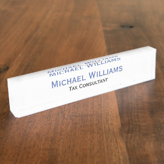 Custom Personalized Executive Job Title Name Plate