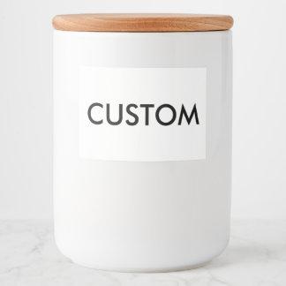 Custom Personalized Food Jar Label Blank Template