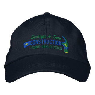 Custom Personalized for Your Construction Business Embroidered Baseball Caps