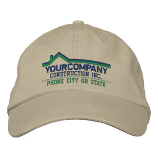 Custom Personalized for Your Construction Business Embroidered Baseball Cap