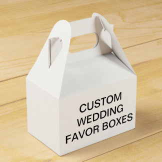 Custom Personalized Gable Wedding Favor Boxes