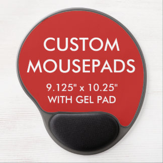 Custom Personalized Gel Mouse Pad Blank Template
