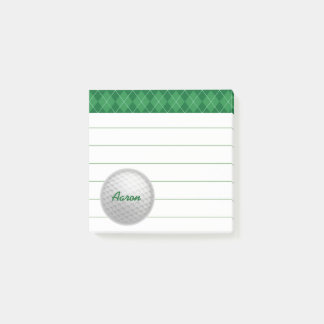 Custom Personalized Golf Post It Notes Gift