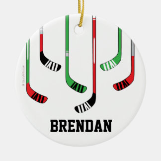 Custom Personalized Hockey Christmas Ornament
