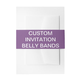 Custom Personalized Invitation Belly Bands Blank Invitation Belly Band