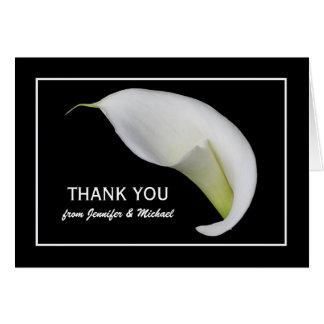 Custom Personalized Lily Blank Thank You Note Card