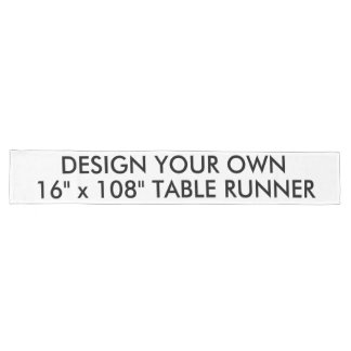 """Custom Personalized Long 16"""" x 108"""" Table Runner"""