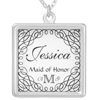 Custom Personalized Maid of Honor Necklace