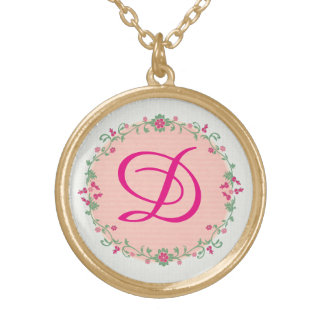 Custom Personalized Monogram Initial Necklace