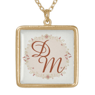 Custom Personalized Monogram Initials Necklace