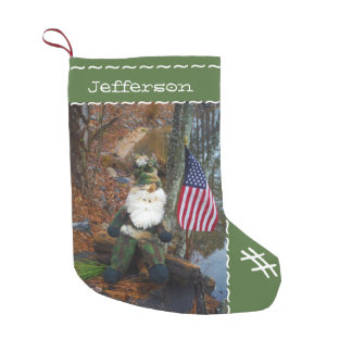 Custom Personalized Name Camouflage Santa Small Christmas Stocking
