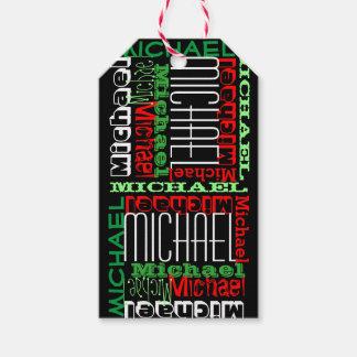 Custom Personalized Name Kids Christmas Gift Tags
