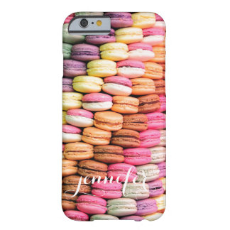 Custom personalized name macaron macaroon cookies barely there iPhone 6 case