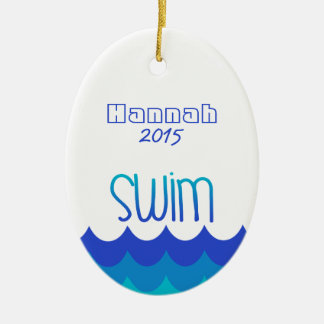 Custom Personalized Ornament For the Swimmer