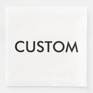 Custom Personalized Paper Napkins Blank Template