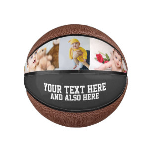 Custom Personalized Photo and Text Mini Basketball