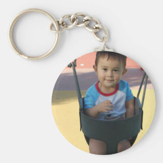 Custom Personalized Photo Basic Round Button Key Ring