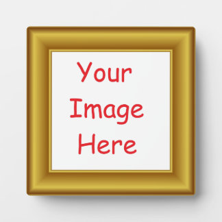 Custom Personalized Picture & Gold Frame Printed