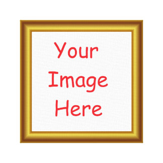 Custom Personalized Picture & Gold Frame Printed Canvas Print