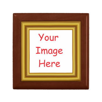 Custom Personalized Picture & Gold Frame Printed Gift Box