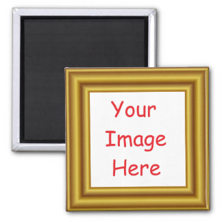 Custom Personalized Picture & Gold Frame Printed Magnet