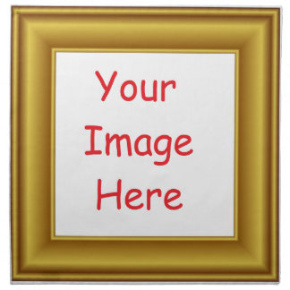 Custom Personalized Picture & Gold Frame Printed Napkin