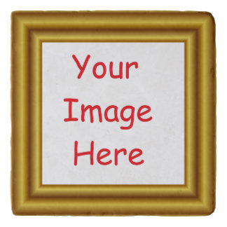 Custom Personalized Picture & Gold Frame Printed Trivet